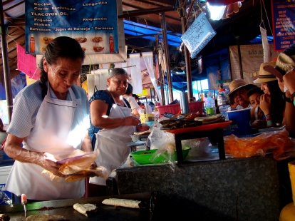 Stall in Tepoztlan food markets